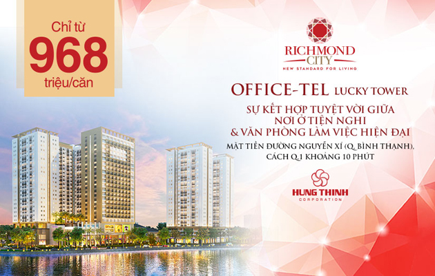 Officetel dự án richmond city